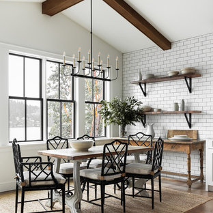 75 Beautiful Farmhouse Dining Room Pictures & Ideas | Houzz