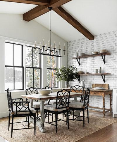 Farmhouse Dining Room by Marianne Simon Design
