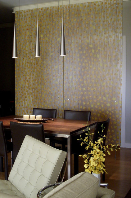 Contemporary Dining Room by Christopher Kellie Design Inc.