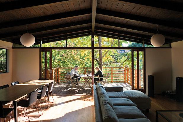 コンテンポラリー ダイニング by Strachan Group Architects