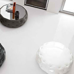 Glam Coffee Table or Pouf - Glam is available in pouf or coffee table version. The structure is in wood, with polyurethane padding. Glam can be covered in shiny technical