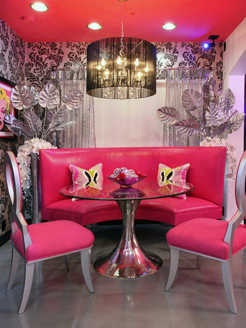 Wallpaper Designs For Living Room In India: Hot Pink Damask Wallpaper Ideas, Pictures, Remodel And Decor
