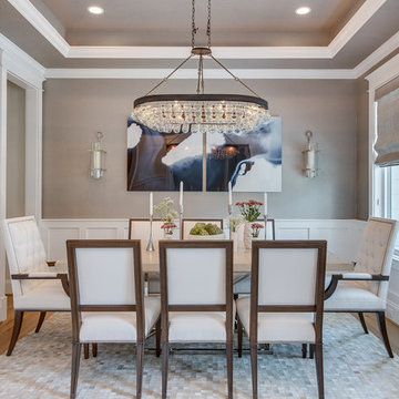 Glam Modern Farmhouse Living + Dining + Master Suite