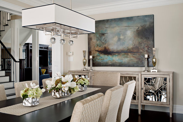 Transitional Dining Room by Gabriele Pizzale Design Inc.
