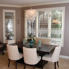Transitional Dining Room by Normandy Remodeling