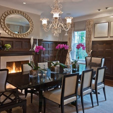 Transitional Dining Room by Jolie Korek & Company