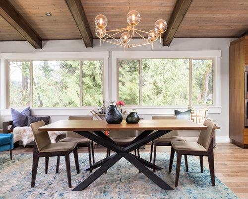 Piccola Sala Da Pranzo : Piccola sala da pranzo aperta verso la cucina moderna foto idee
