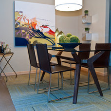 Modern Dining Room by Red Egg Design Group