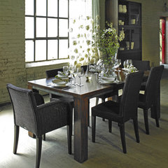 eclectic dining room by Global Living