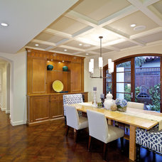 Mediterranean Dining Room by Christian Rice Architects, Inc.