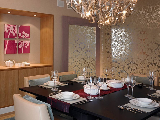 Contemporary Dining Room by David Churchill - Architectural  Photographer