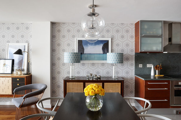 Midcentury Dining Room by Bhavin Taylor Design