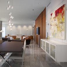 Contemporary Dining Room by Centaur Interiors