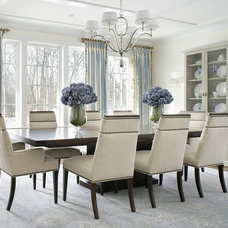 Transitional Dining Room by Jodie O Designs