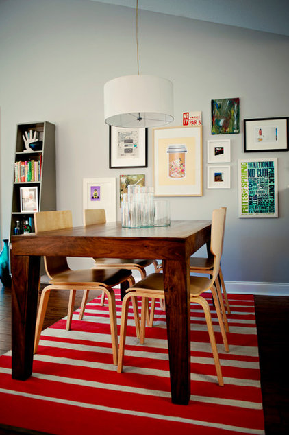 Eclectic Dining Room by Stephanie Swander Interiors