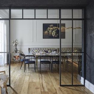 Exemple d'une salle à manger tendance.