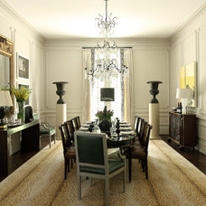 Transitional Dining Room by Robert Brown Interior Design