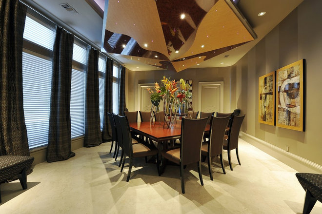 Contemporary Dining Room by Hann Builders