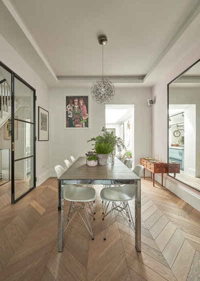 Contemporary Dining Room by DH Design