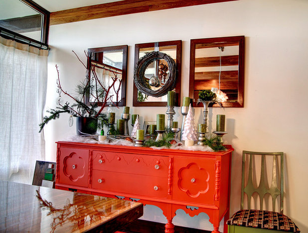 Shabby-chic Style Dining Room by Mindi Freng Designs