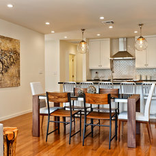 Transitional Dining Room by American Coastal Properties