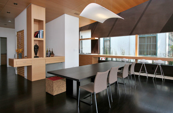 Contemporary Dining Room by JP Builders, Inc