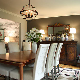 Gray, Black and White Dining Room