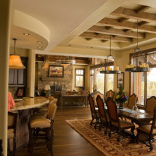 Rustic Dining Room by Bayliss Architects P C