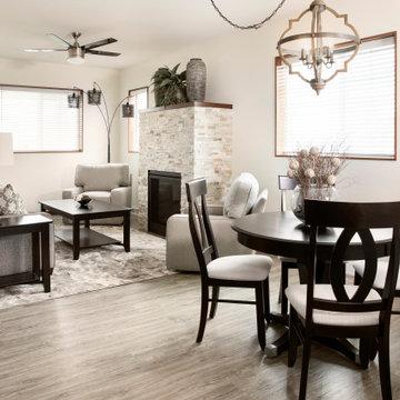 Great Living Room & Dining Room Design