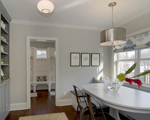 Contemporary Dining Room Idea In Minneapolis With Gray Walls