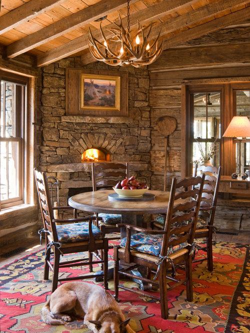 Talking Rock Log Cabin Dining Room Design Ideas Renovations Photos