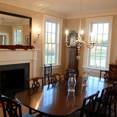 Farmhouse Dining Room by Custom Structures Inc