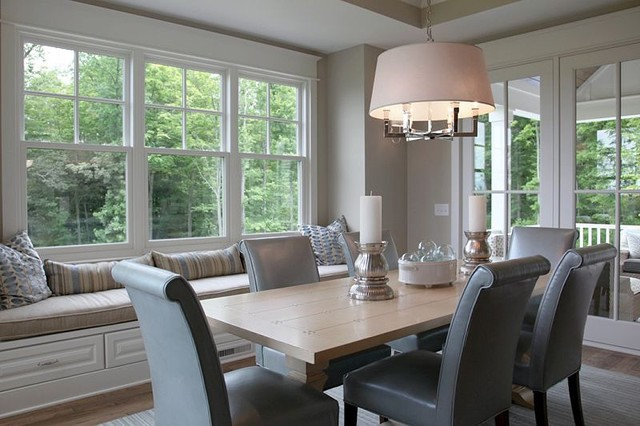 Transitional Dining Room by Dwellings
