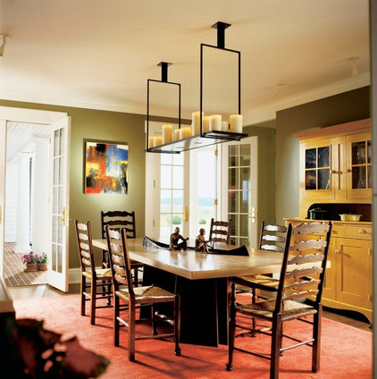 eclectic dining room by Ike Kligerman Barkley