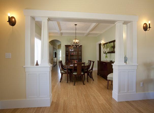 Craftsman Dining Room by Ventana Construction LLC