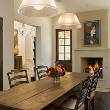 Rustic Dining Room by Hugh Jefferson Randolph Architects