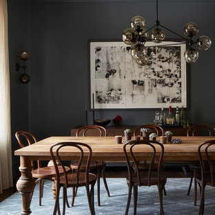 Inspiration for an eclectic dining room in Chicago.