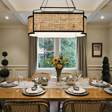 Traditional Dining Room by Luminosus Designs LLC