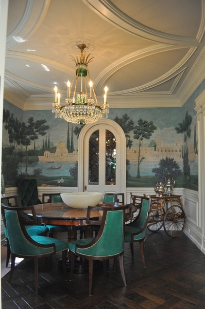 traditional dining room by Suzanne Bellehumeur