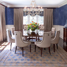 Traditional Dining Room by Diane Gerardi Design