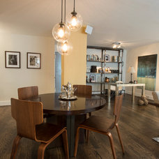Industrial Dining Room by Lauren Held Designs, LLC