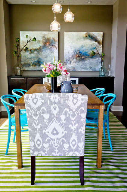 Eclectic Dining Room by Birdhouse Interior Design