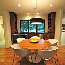 Contemporary Dining Room by Valerie McCaskill Dickman