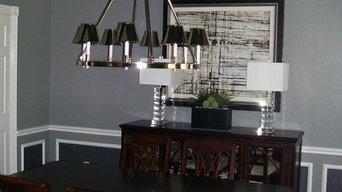 Grey Modern Formal Dining Room - After Photo