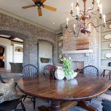 Farmhouse Dining Room by Allard Ward Architects