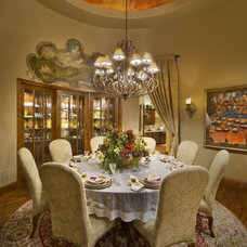 Traditional Dining Room by Grisell Navas