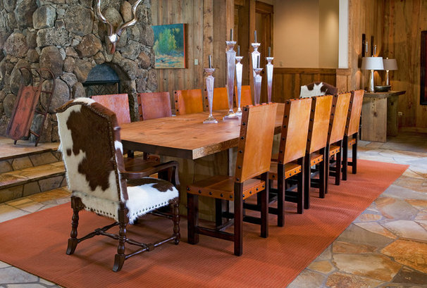 Rustic Dining Room by High Camp Home