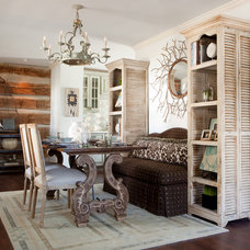 Eclectic Dining Room by Red Leaf Interiors, LLC