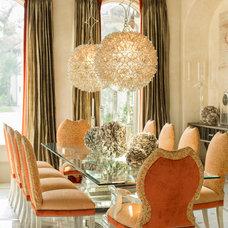 Mediterranean Dining Room by Patrick Berrios Designs