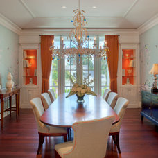 Tropical Dining Room by Stofft Cooney Architects